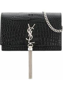 Saint Laurent Carteira Kate Com Alça - Preto