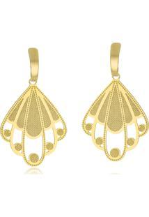 Brinco Le Diamond Chapa Dourado - Kanui