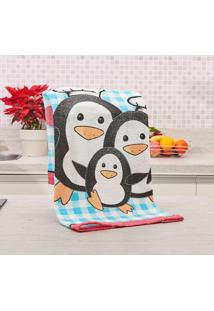 Pano De Copa Avulso Felpuda Primore Teka Pinguins Pinguins