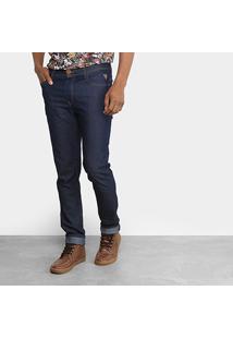 Calça Jeans Reta Cavalera Básica Masculina - Masculino-Azul Escuro