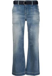 Jacob Cohen Calça Jeans Flare Cropped - Azul