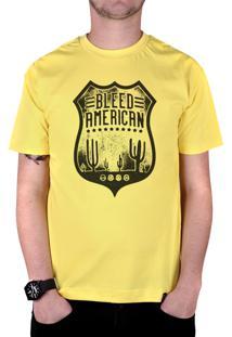 Camiseta Bleed American Route 66 Amarela