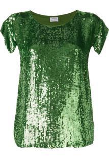 P.A.R.O.S.H. Blusa Com Paetê - Verde