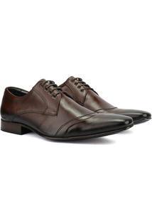 Sapato Social Bigioni Em Couro Masculino - Masculino-Marrom