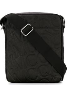 Mcq Alexander Mcqueen All Over Logo Messenger Bag - Preto