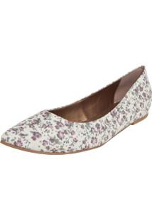 Sapatilha Biondini Floral Off-White
