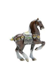 Porta Jóia Cavalo Em Zamac 8 X 4 X 10 Cm - Unissex