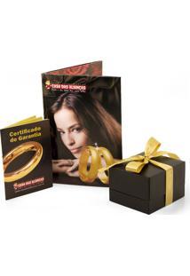 Aliança De Ouro Com Filete Em Ouro Branco - As0267