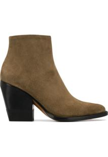 Chloé Ankle Boot Com Salto 95Mm - Cinza