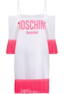Moschino Vestido Kaftan Moschino Swim Com Acabamento De Tassel - Branco