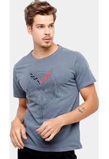 Camiseta Corvette Big Flame Masculina - Masculino