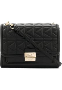 Karl Lagerfeld Bolsa Tiracolo 'K!Kuilted' De Couro - Preto