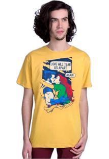 Camiseta Love Will Tear Us Apart Geek10 - Amarelo