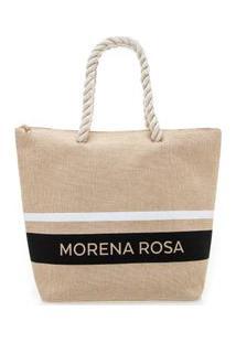 Bolsa Shopping Detalhe Alca Nude - M