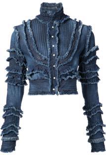 Dsquared2 Jaqueta Jeans Com Franzidos - Azul