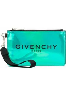 Givenchy Clutch Com Estampa De Logo - Verde
