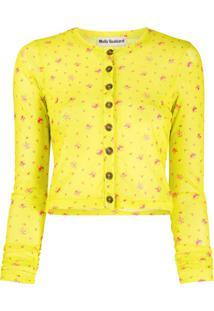 Molly Goddard Floral Print Cardigan - Amarelo