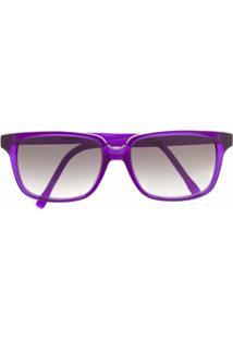 Mykita Óculos De Sol Quadrado Milena - Roxo