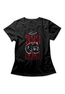 Camiseta Feminina Half Evil Preto