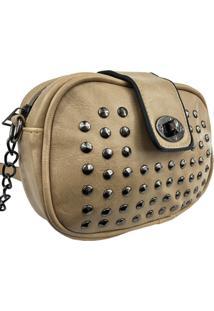 Bolsa Lenna'S Transversal B022 Bege - Bege - Feminino - Dafiti