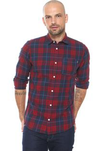 Camisa Jack & Jones Reta Xadrez Vermelha