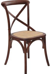 Cadeira Katrina Madeira Escura -Rivatti - Marrom