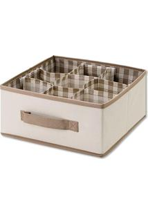 Caixa Organizadora- Cru & Bege- 13X26X27Cm- Bem Bem Fixa