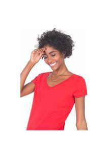 Blusa Gola V Básica Vermelha Verm/Gg