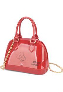 Mini Bolsa Luxcel Transversal Mickey Vermelha - Vermelho - Feminino - Dafiti