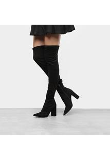 Bota Over The Knee Dumond Stretch Feminina - Feminino-Preto