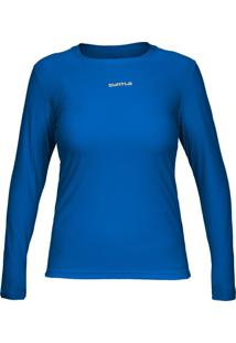 Camiseta Curtlo Active Fresh Ml - . Azul Gg