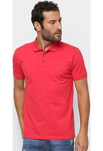 Camisa Polo Ellus Piquet Classic Masculina - Masculino-Vermelho