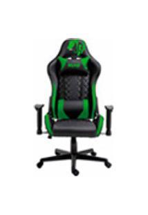 Cadeira Gamer Profissional Snake Mamba Negra Reclinavel Giratoria Preta E Verde 9183