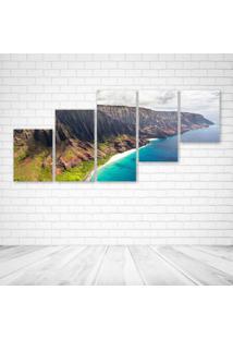 Quadro Decorativo - Na Pali Coast - Composto De 5 Quadros - Multicolorido - Dafiti