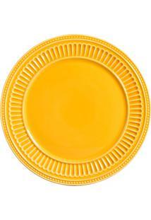Sousplat Em Cerâmica Poppy 34Cm Amarelo
