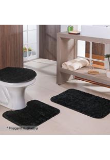 Jogo Para Banheiro Classic- Preto- 3Pçs- Oasisoasis