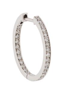 Vanrycke Par De Brincos De Argola Com Aplicação De Diamante - White Gold
