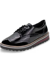 Sapato Feminino Oxford Ramarim - 1990103 Verniz/Preto 33