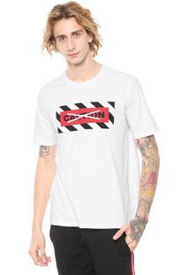 Camiseta Ellus Caution Loose Branca