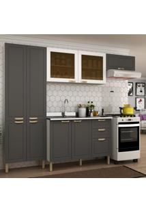 Cozinha Completa 4 Peã§As Americana Multimã³Veis 5681 Branco/Grafite - Branco/Incolor - Dafiti