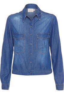 Camisa Feminina Jacket Lisa - Azul