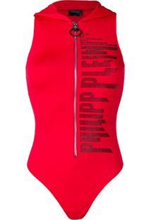Philipp Plein Body Com Aplicação De Logo - Vermelho