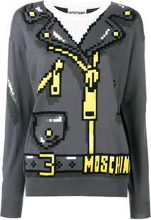 Moschino Suéter De Tricô - Cinza