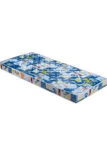 Colchão De Solteiro Príncipe D23 188X88X14 Azul Celiflex