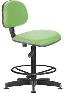Cadeira Caixa Alta Secretária Giratória Courvin Verde Claro