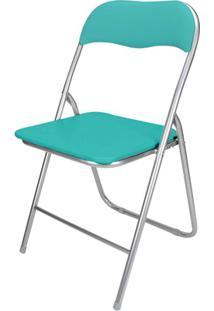 Cadeira Em Aço Dobrável 44X90Cm Verde