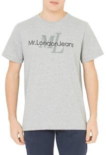 Camiseta Mr. London Logo Cinza