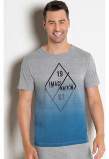 Camiseta Mescla Com Estampa Efeito Spray