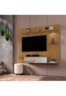 Painel Para Tv 55 Polegadas Ubatuba Cinamomo E Espelho