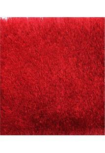 Tapete Chines Silk Shaggy (E3) 1.40X2.00 Vermelho